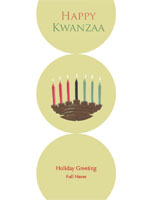 Kwanzaa5 Greeting Card (4x55)
